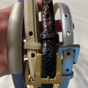 4 Worth leather belts Small Brass Buckle Petite